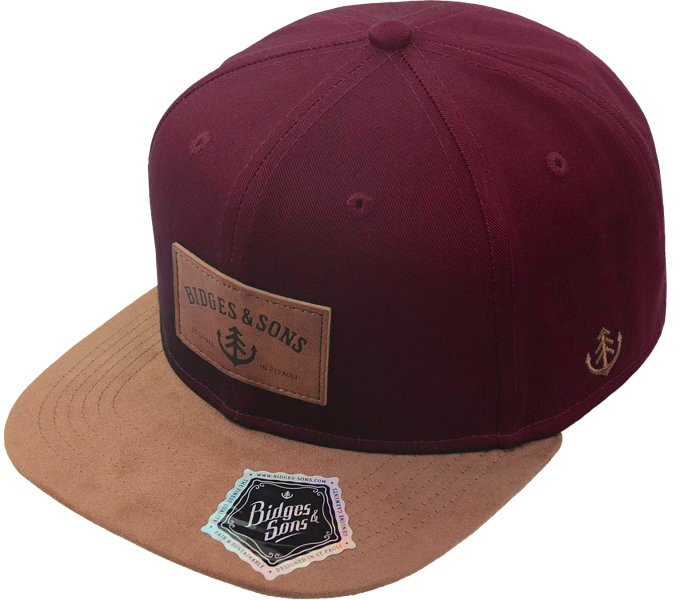 bidges-and-sons__cap_bsoriginal_burgundy-beige_isolated_product_2188_4423