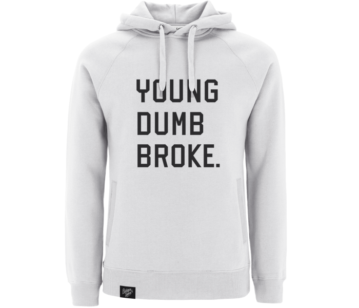 bidges-and-sons__sweatshirt-hooded_young-dumb-broke_white_isolated_product_1844_4146