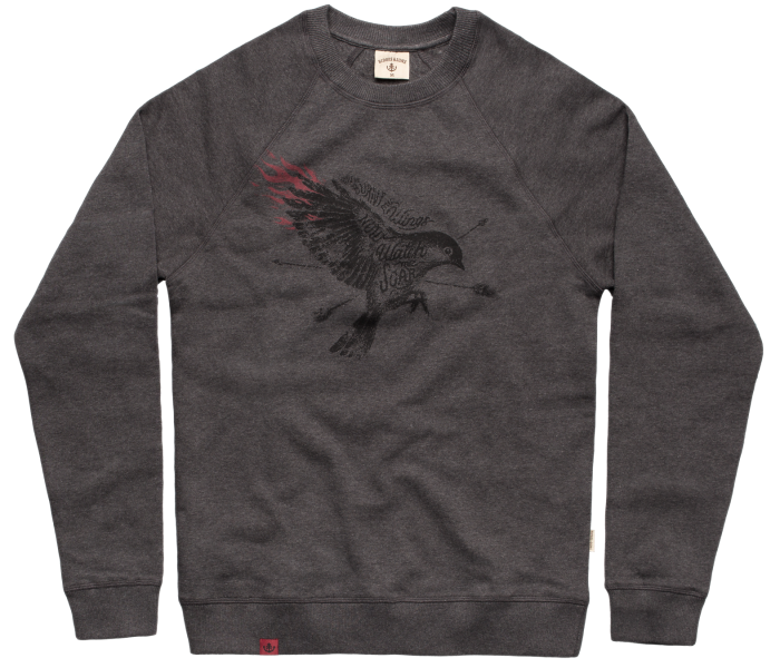 bidges-and-sons_gents_sweater-unisex_soaring-bird_dark-heather-grey_isolated_product_1357_3838