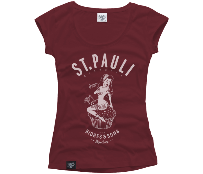 bidges-and-sons_girls_low-cut-t-shirt_st-pauli-pin-up_burgundy_isolated_product_1139_3634