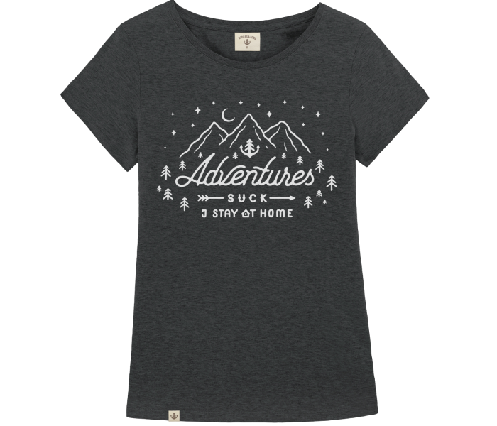 bidges-and-sons_ladies_low-cut-t-shirt_adventures-suck_dark-heather-grey_isolated_product_2223_4450