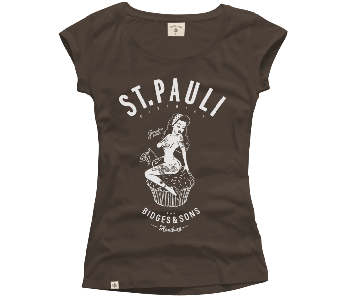 bidges-and-sons_ladies_low-cut-t-shirt_st-pauli-pin-up_chocolate_isolated_product_1139_4124