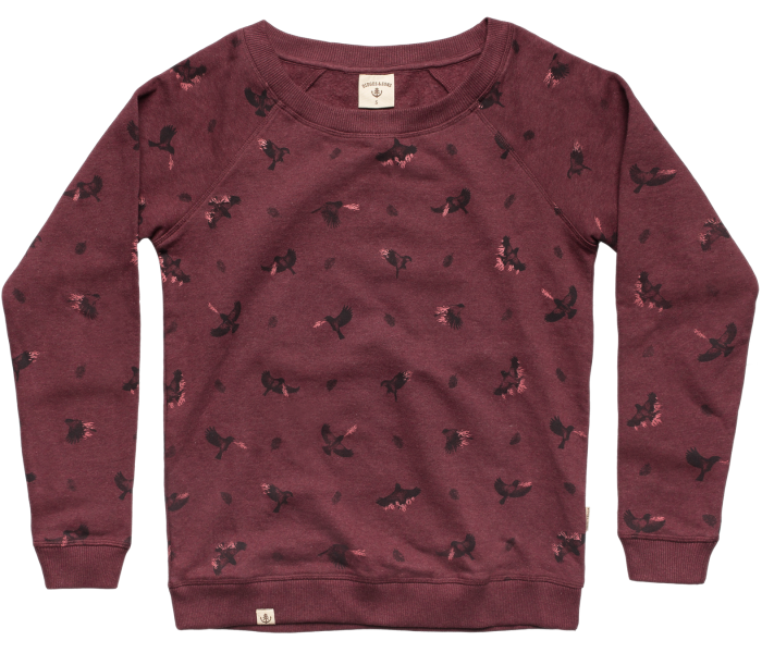 bidges-and-sons_ladies_sweater-lowcut-girls_firebirds_burgundy-heather_isolated_product_1364_3827