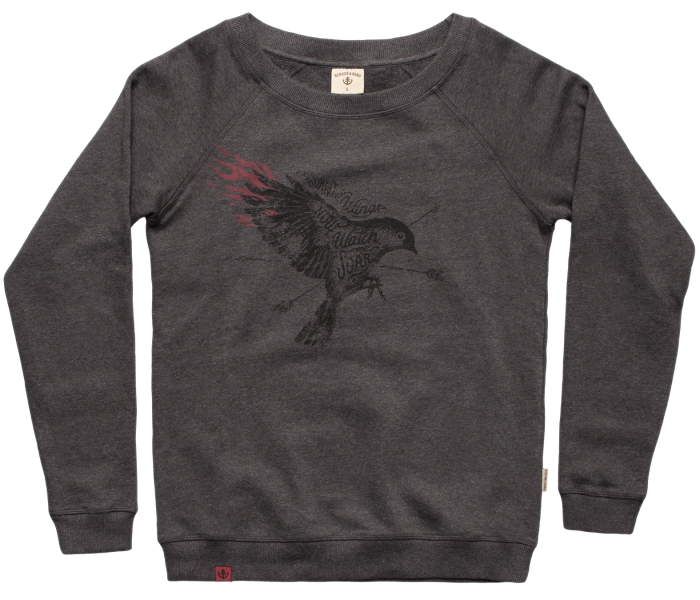 bidges-and-sons_ladies_sweater-lowcut-girls_soaring-bird_dark-heather-grey_isolated_product_1359_3918