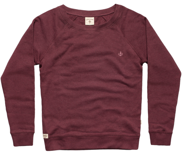 bidges-and-sons_ladies_sweater-lowcut-girls_tanker-basic_burgundy-heather_isolated_product_1365_3830